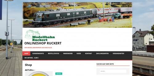Firmenprofil von: Ihr Shop für Modelleisenbahnen – Modellbahn Ruckert