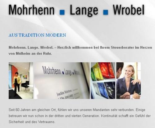 Firmenprofil von: Steuererklärung: Mohrhenn . Lange . Wrobel in Mülheim an der Ruhr