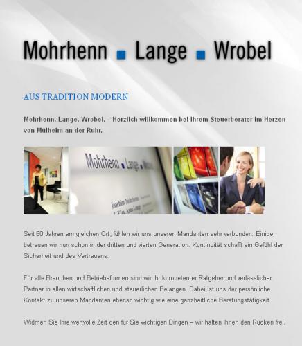 Firmenprofil von: Steuerkanzlei Mohrhenn . Lange . Wrobel in Mülheim an der Ruhr