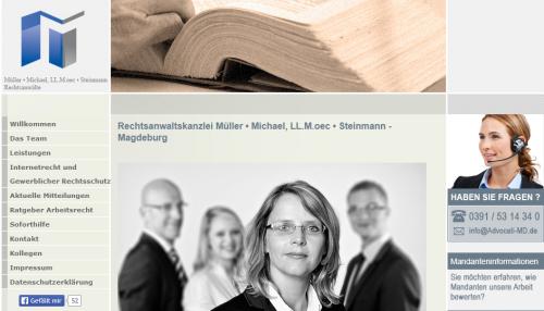 Firmenprofil von: Rechtsanwalt in Magdeburg: Müller • Michael, LL.M.oec • Steinmann