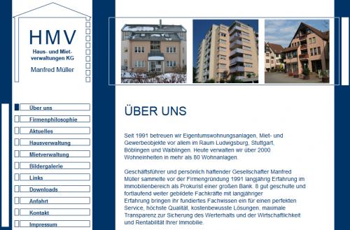Firmenprofil von: Hausverwaltung in Ludwigsburg: HMV Immobilienverwaltung GmbH & Co. KG