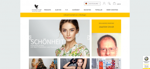 Firmenprofil von: Forever Living Products Germany – Ihr Onlineshop für Nahrungsergänzung