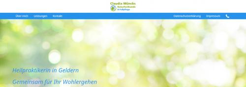 Firmenprofil von: Fußpflege in Geldern – Naturheilkunde- und Fußpflegepraxis Claudia Müncks
