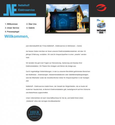 Firmenprofil von: Energieeinsparung in Möhnesee: Nettelhoff Elektroservice