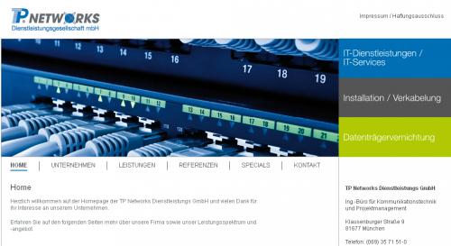 Firmenprofil von: TP Networks Dienstleistungsgesellschaft in München