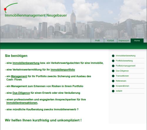 Firmenprofil von: Immobilienmanagement Neugebauer