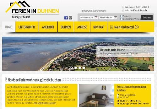 Firmenprofil von: H.K. Immobilien Hannegret Kobold in Duhnen an der Nordsee