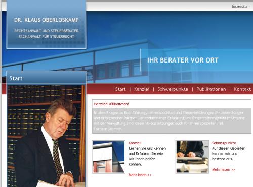 Firmenprofil von: Betriebsprüfung in Schwerin: Fachanwalt für Steuerrecht Dr. Klaus Oberloskamp