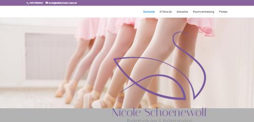 Firmenprofil von: Online-Ballettunterricht für Groß und Klein: Ballettschule Nicole Schoenewolf