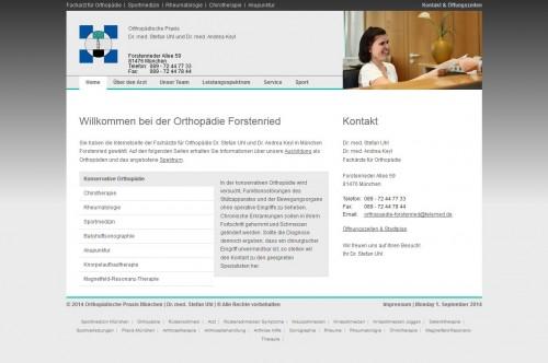 Firmenprofil von: Orthopädische Praxis Dr. med. Stefan Uhl und Dr. med. Andrea Keyl in München