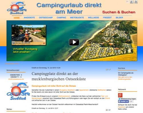 Firmenprofil von: Ostseecamp Seeblick Lange & Pönitz - Camping Ostsee