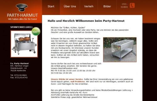 Firmenprofil von: Partyzubehör in Karlsruhe: Party-Hartmut