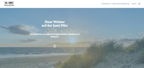 Firmenprofil von: Beeindruckende Nordsee-Urlaube auf Föhr: Gästehaus Weimar