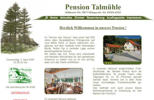 Firmenprofil von: Die perfekte Unterkunft im Harz: Pension Talmühle