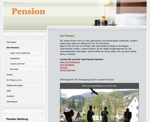 Firmenprofil von: Pension Hamburg in Bad Grund
