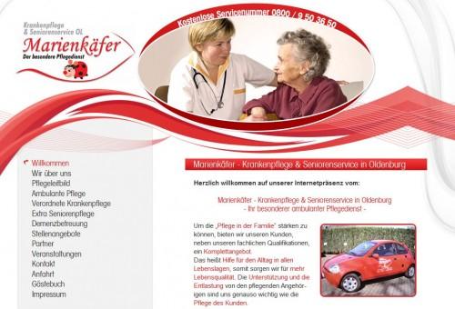 Firmenprofil von: Pflegedienst in Oldenburg: Marienkäfer - Krankenpflege und Seniorenservice OL