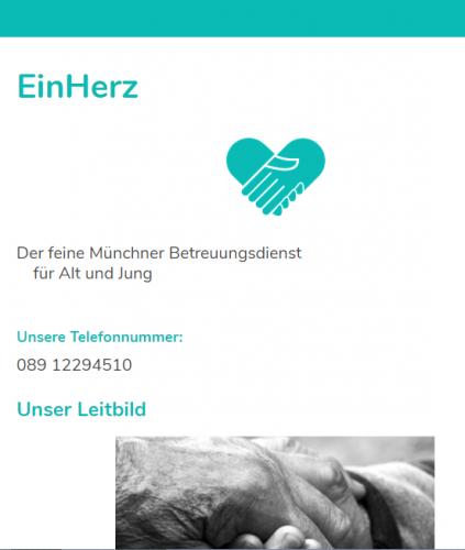 Firmenprofil von: Einfühlsame Altenbetreuung: EinHerz in München
