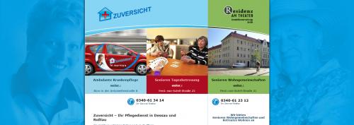 Firmenprofil von: Pflegedienst Zuversicht in Dessau-Roßlau - Wir kümmern uns um Senioren