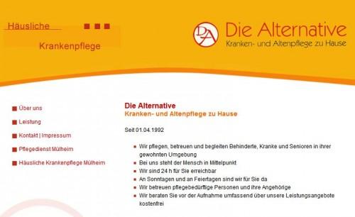Firmenprofil von: Umfangreicher Pflegedienst: Die Alternative GmbH in Mülheim
