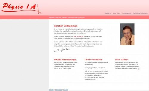Firmenprofil von: Physio1a: Praxis für Physiotherapie in Konstanz