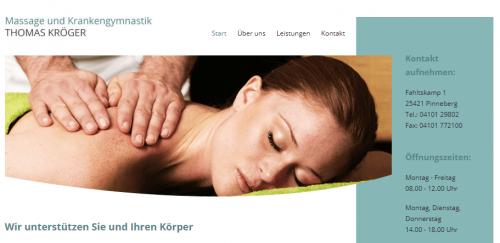 Firmenprofil von: Physiotherapie bei Massage und Krankengymnastik Thomas Kröger in Pinneberg