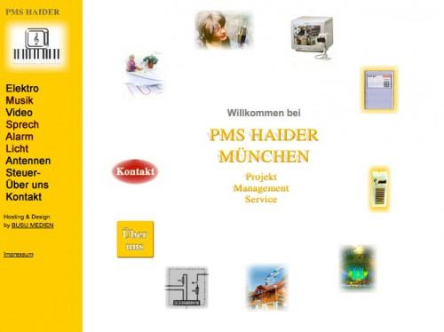 Firmenprofil von: PMS Haider Projekt Management Service in München
