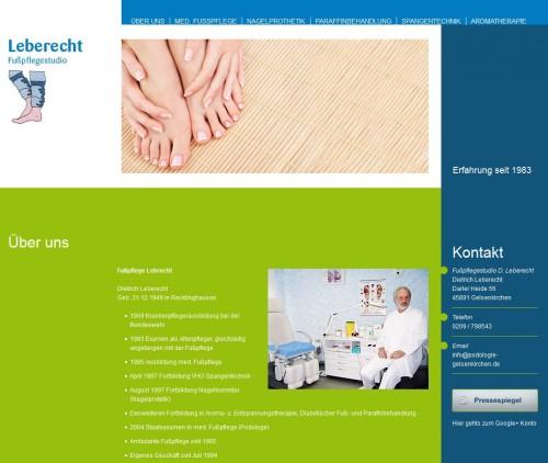 Firmenprofil von: Fußpflegestudio Leberecht in Gelsenkirchen – Alles rund um die Fußpflege