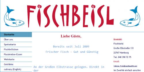Firmenprofil von: Frischer Fisch in Hamburg: Restaurant Fischbeisl
