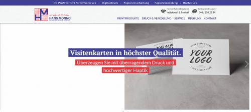 Firmenprofil von: Ihre Druckerei Hans Monno in Hamburg