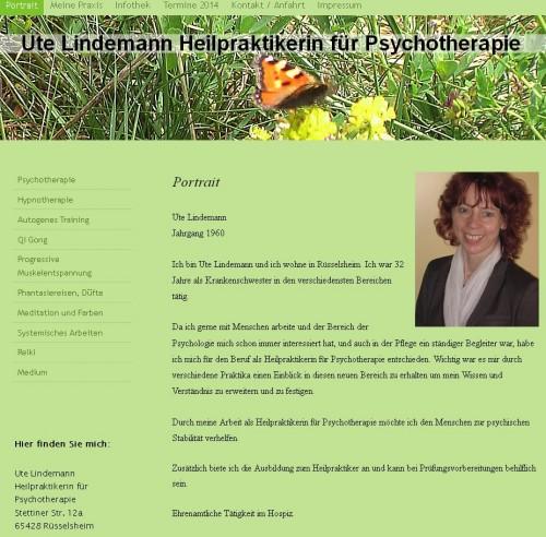 Firmenprofil von: Heilpraktikerin für Psychotherapie Ute Lindemann in Rüsselsheim