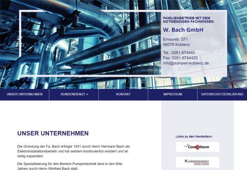 Firmenprofil von: Pumpen in Koblenz: Winfried Bach GmbH