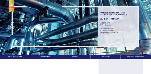Firmenprofil von: Gesucht und gefunden: Pumpen von der W. Bach GmbH