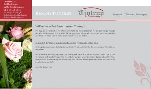 Firmenprofil von: Bestattungen in Recklinghausen: Tintrup