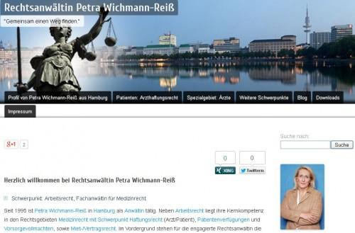 Firmenprofil von: Fachanwältin für Medizinrecht in Hamburg: Petra Wichmann-Reiß