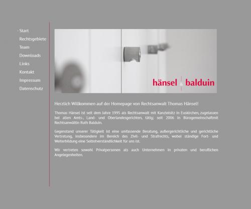 Firmenprofil von: Kanzlei der Rechtsanwälte Hänsel & Balduin in Simmerath