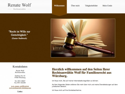 Firmenprofil von: Rechtsanwältin Renate Wolf in Würzburg