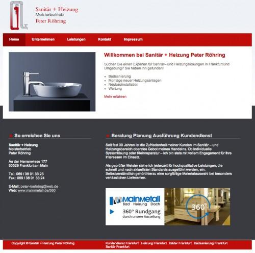 Firmenprofil von: Sanitär + Heizung Meisterbetrieb Peter Röhring in Frankfurt am Main