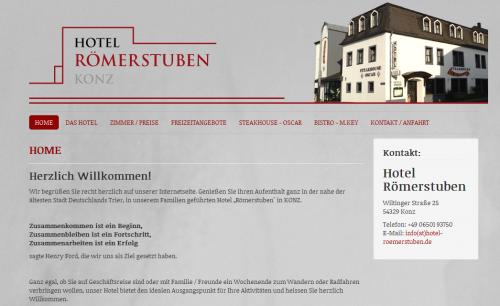 Firmenprofil von: Hotel Römerstuben im Raum Trier