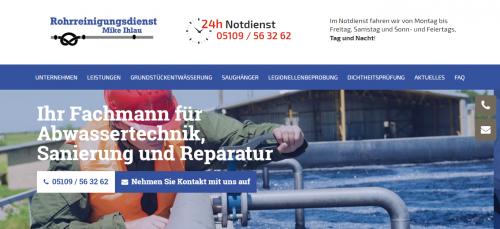 Firmenprofil von: Fachmännische Kanalreinigung in Hannover