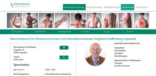 Firmenprofil von: Ganzheitlich gegen Rückenbeschwerden: Heilpraktiker Siegfried Graffenberg in Lippstadt