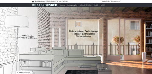 Firmenprofil von: Ihr Experte für Malerarbeiten in Rostock: De Allrounder Scheibner