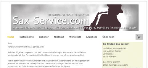 Firmenprofil von: Klangvolle Holzblasinstrumente aus Hofheim: Sax-Service.com