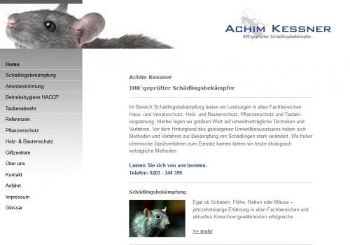 Firmenprofil von: Achim Kessner Schädlingsbekämpfung in Duisburg