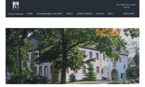 Firmenprofil von: Wohnen wie der ländliche Adel im Schloss Triestewitz – Das Hotel bei Torgau