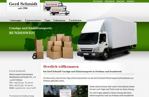 Firmenprofil von: Gerd Schmidt Umzüge und Kleintransporte in Potsdam