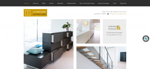 Firmenprofil von: Ihr Experte für Möbelbau in Gilching: Schreinerei Gilching GmbH