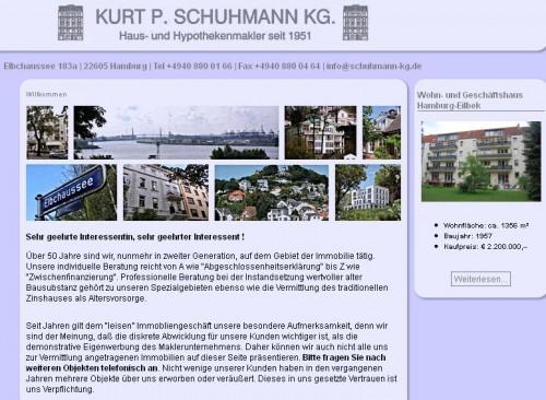 Firmenprofil von: Kurt P. Schuhmann KG. Hausmakler in Hamburg