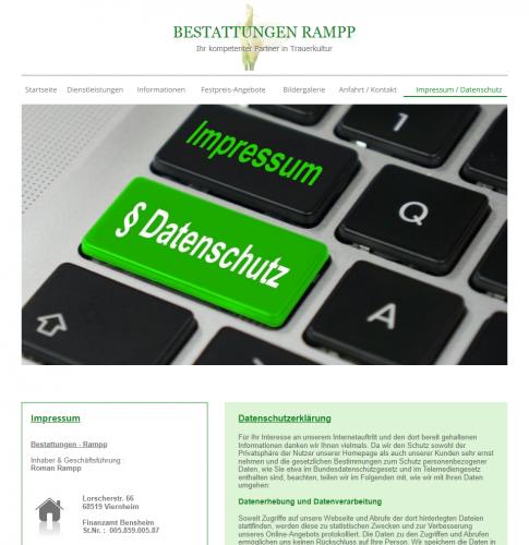 Firmenprofil von: Bestattungen Rampp in Viernheim: Die pietätvollen Bestatter Ihres Vertrauens