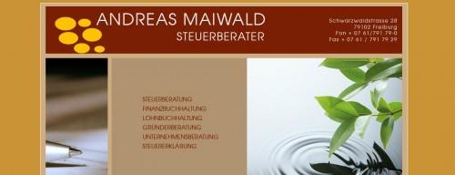 Firmenprofil von: Qualifizierte Lohnbuchhaltung in Freiburg: Steuerkanzlei Andreas Maiwald