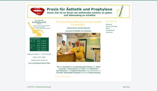 Firmenprofil von: Zahnerhalt in der Praxis für Ästhetik und Prophylaxe in Münster